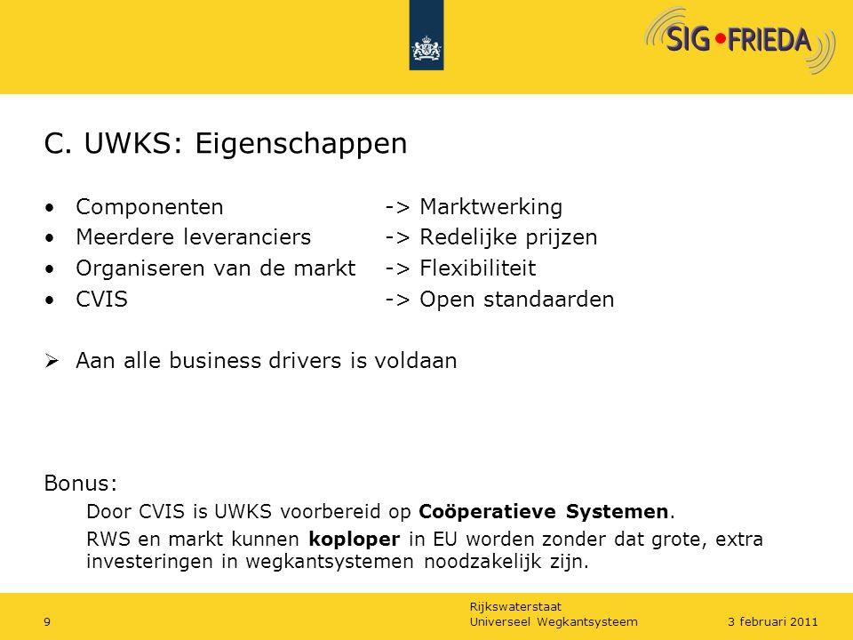 C. UWKS: Eigenschappen Componenten -> Marktwerking