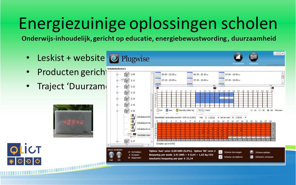 Energiezuinige oplossingen scholen