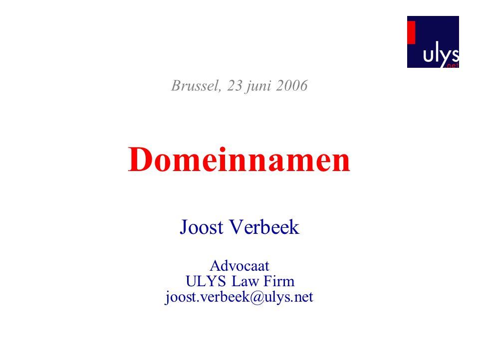 Joost Verbeek Advocaat ULYS Law Firm joost.verbeek@ulys.net