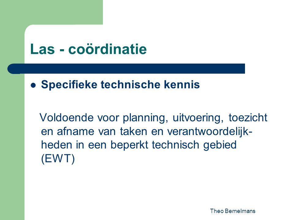 Las - coördinatie Specifieke technische kennis