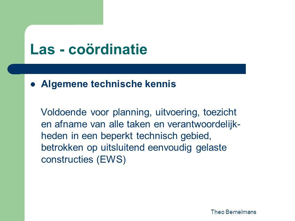 Las - coördinatie Algemene technische kennis