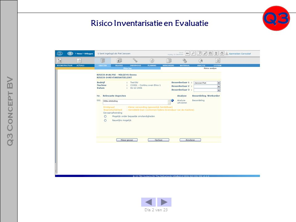 Risico Inventarisatie en Evaluatie