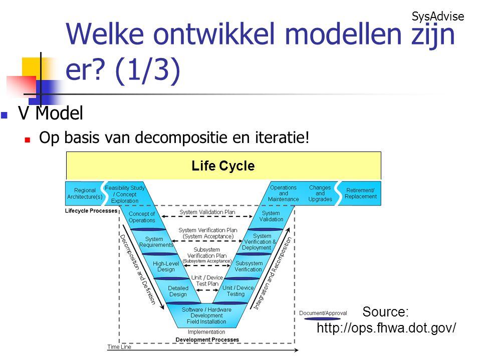 Welke ontwikkel modellen zijn er (1/3)