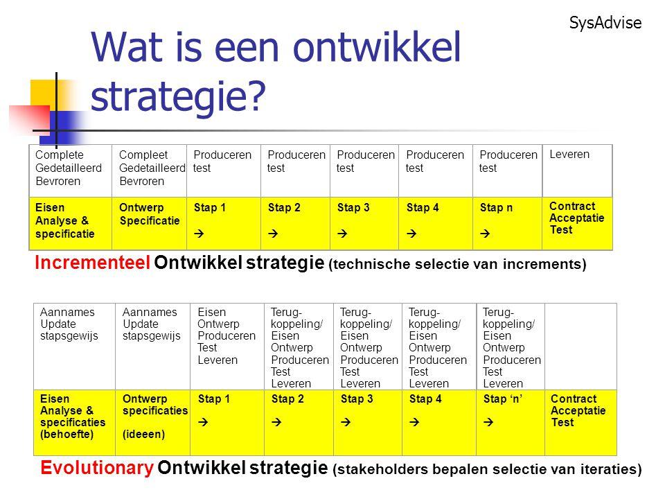 Wat is een ontwikkel strategie