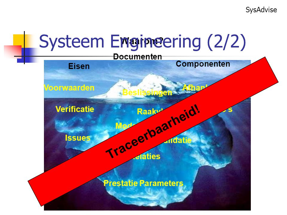 Systeem Engineering (2/2)