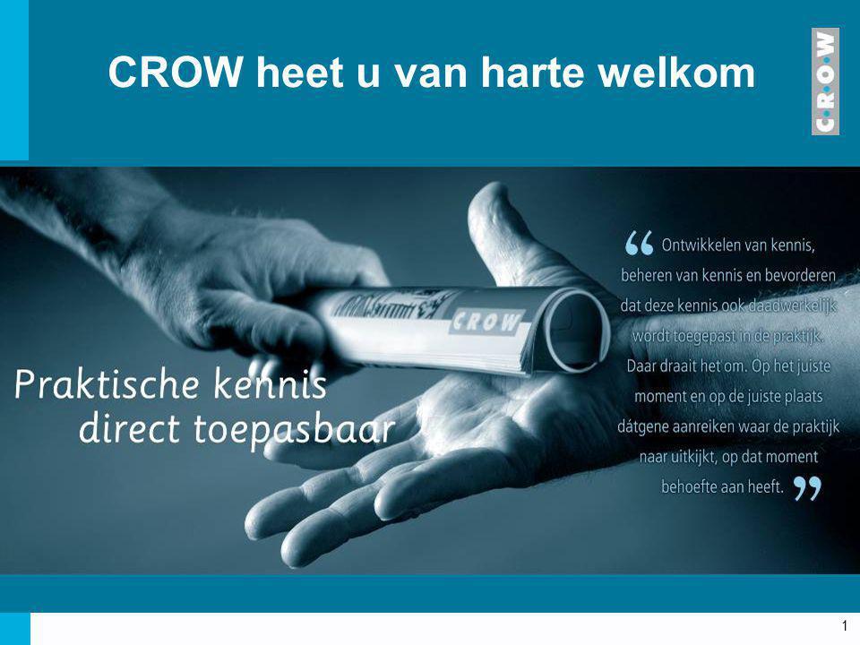CROW heet u van harte welkom