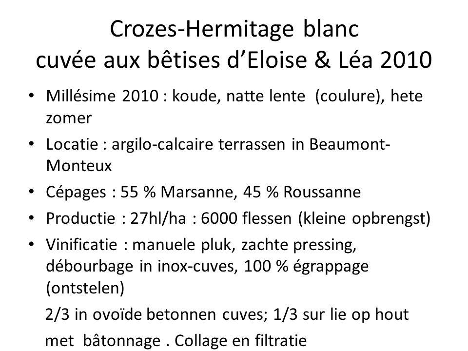 Crozes-Hermitage blanc cuvée aux bêtises d'Eloise & Léa 2010