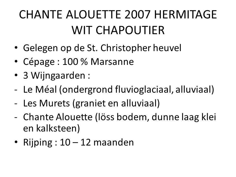CHANTE ALOUETTE 2007 HERMITAGE WIT CHAPOUTIER