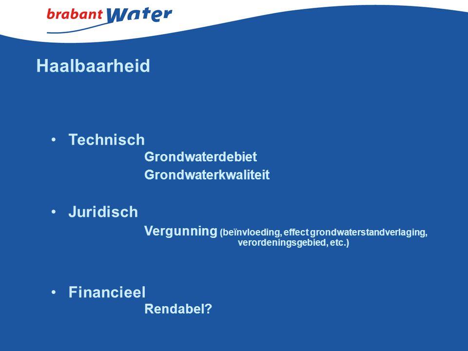 Haalbaarheid Technisch Grondwaterkwaliteit Juridisch