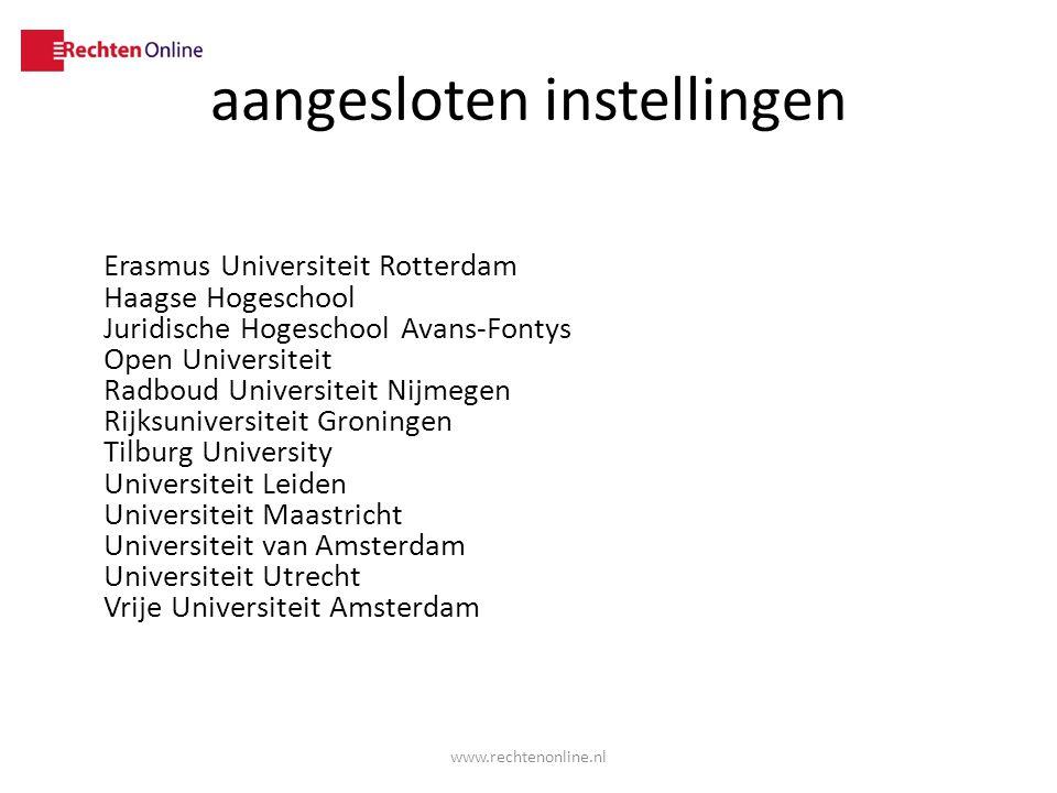 aangesloten instellingen