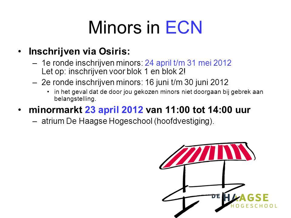 Minors in ECN Inschrijven via Osiris: