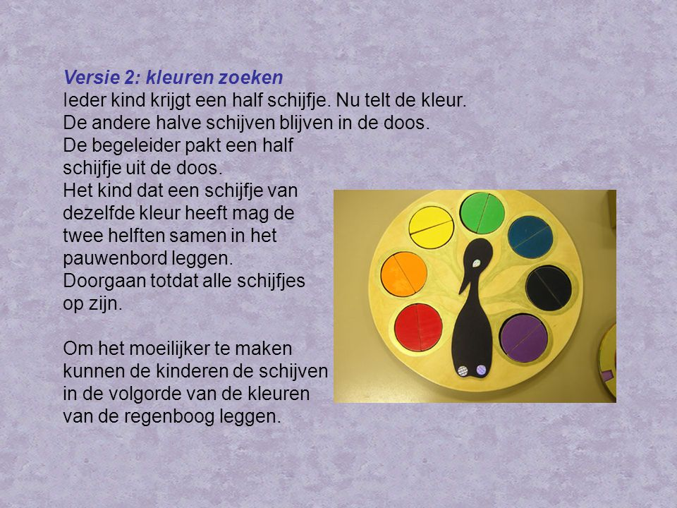 Versie 2: kleuren zoeken