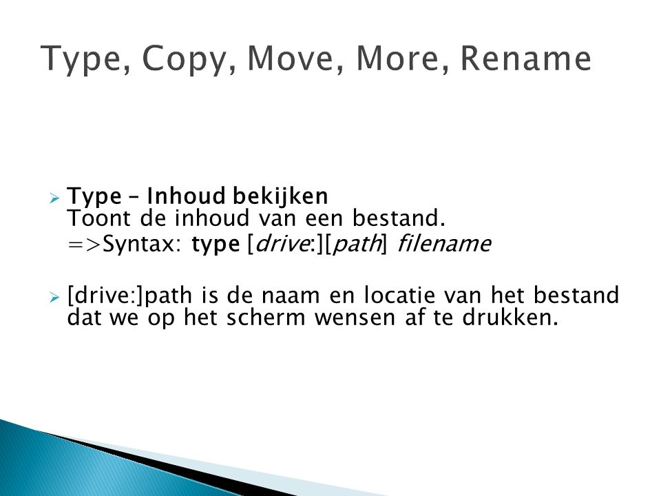 Type, Copy, Move, More, Rename