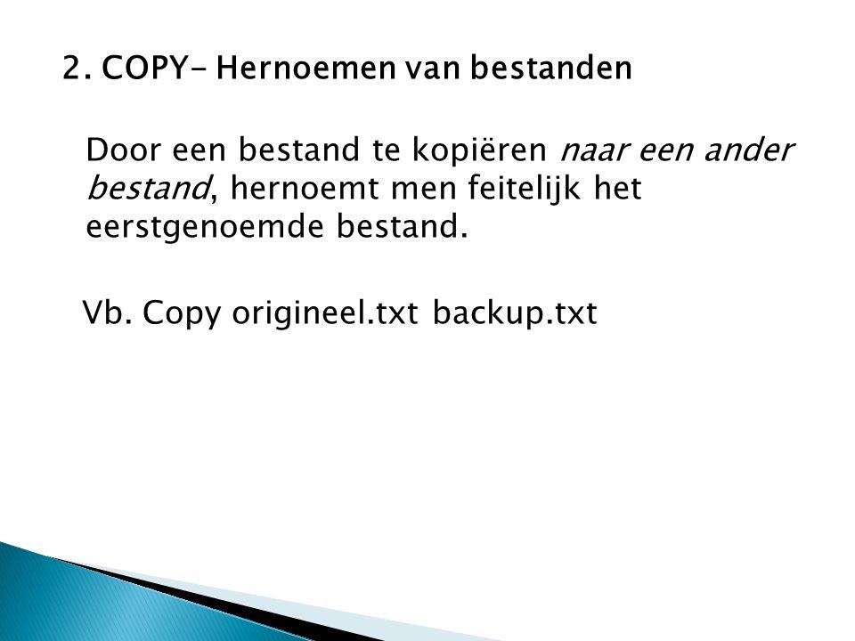 2. COPY- Hernoemen van bestanden