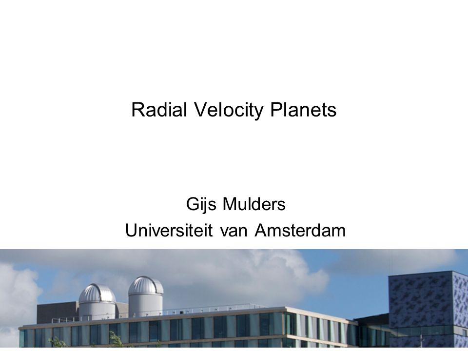 Radial Velocity Planets