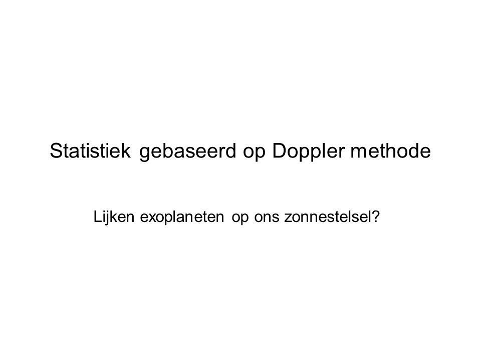 Statistiek gebaseerd op Doppler methode