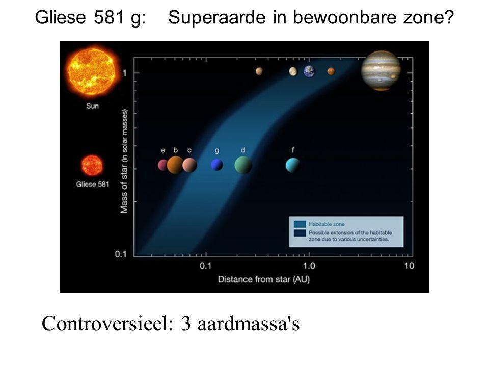 Gliese 581 g: Superaarde in bewoonbare zone