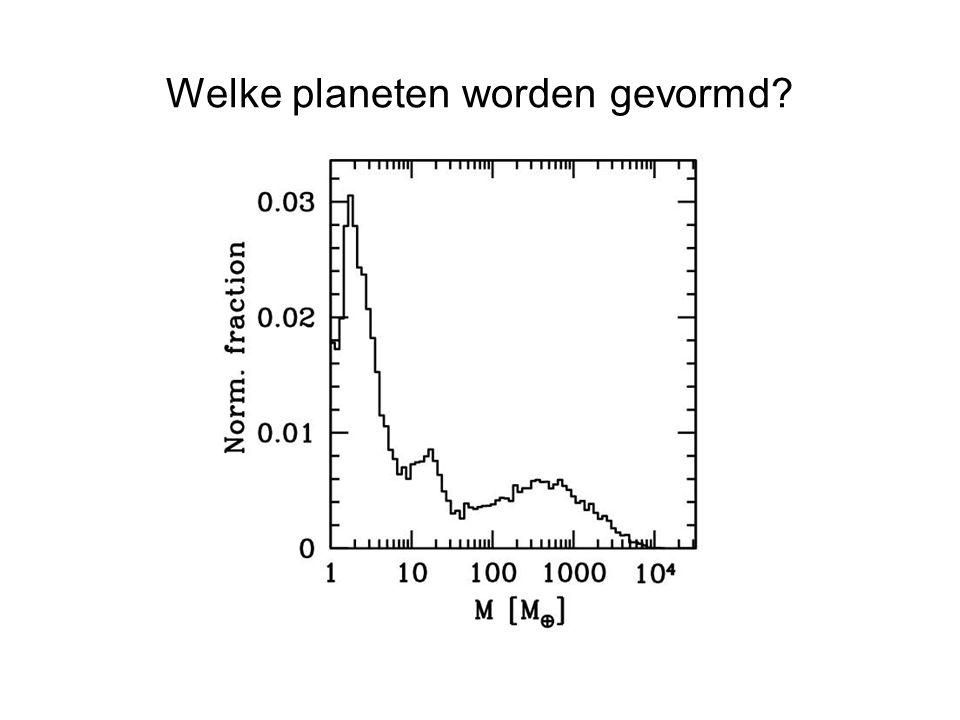 Welke planeten worden gevormd