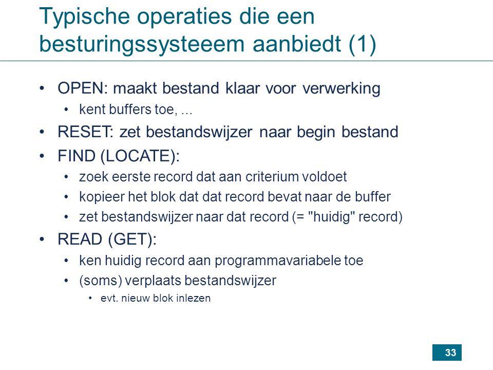 Typische operaties die een besturingssysteeem aanbiedt (1)