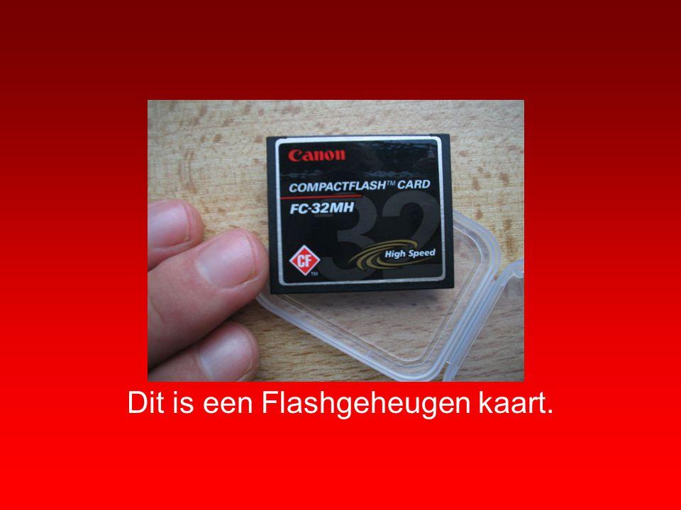 Dit is een Flashgeheugen kaart.