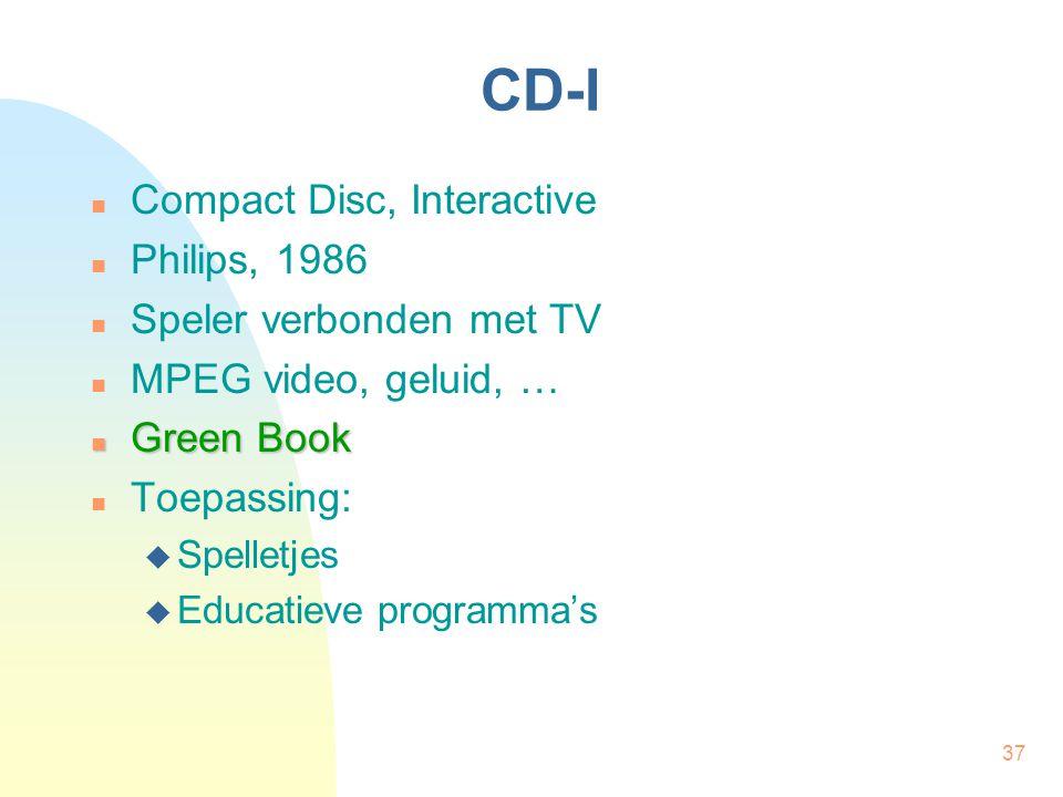CD-I Compact Disc, Interactive Philips, 1986 Speler verbonden met TV