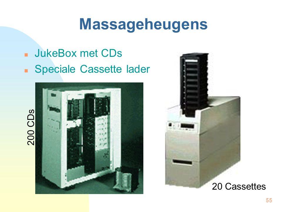 Massageheugens JukeBox met CDs Speciale Cassette lader 200 CDs