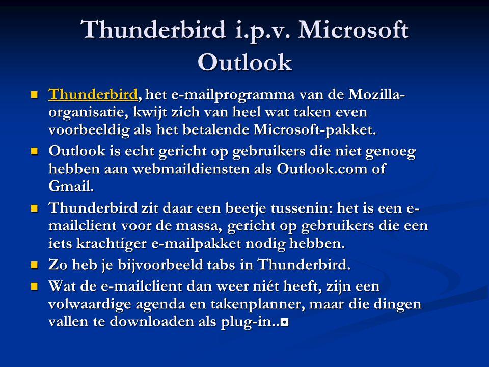 Thunderbird i.p.v. Microsoft Outlook