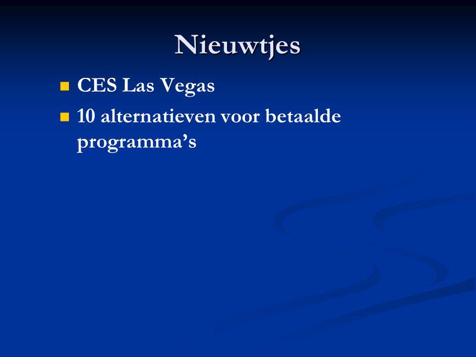 Nieuwtjes CES Las Vegas 10 alternatieven voor betaalde programma's