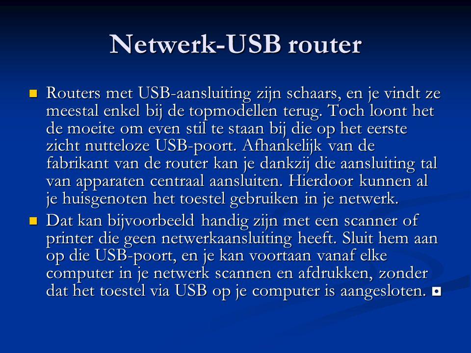 Netwerk-USB router