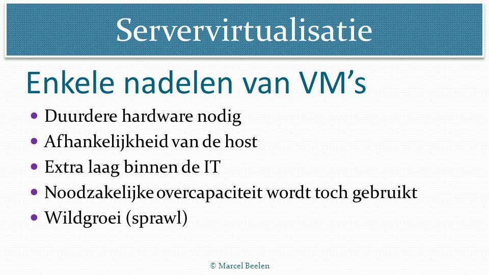 Enkele nadelen van VM's