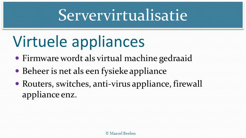 Virtuele appliances Firmware wordt als virtual machine gedraaid