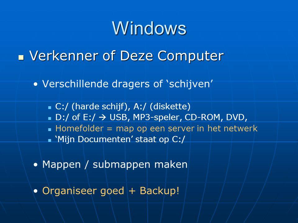Windows Verkenner of Deze Computer Verschillende dragers of 'schijven'