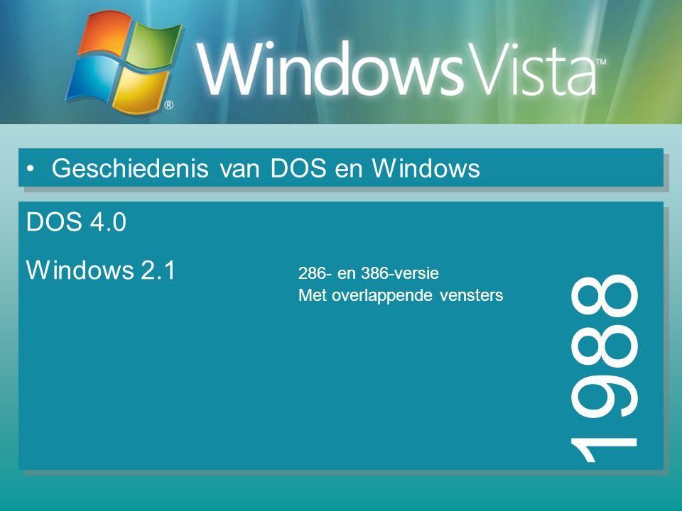1988 Geschiedenis van DOS en Windows DOS 4.0