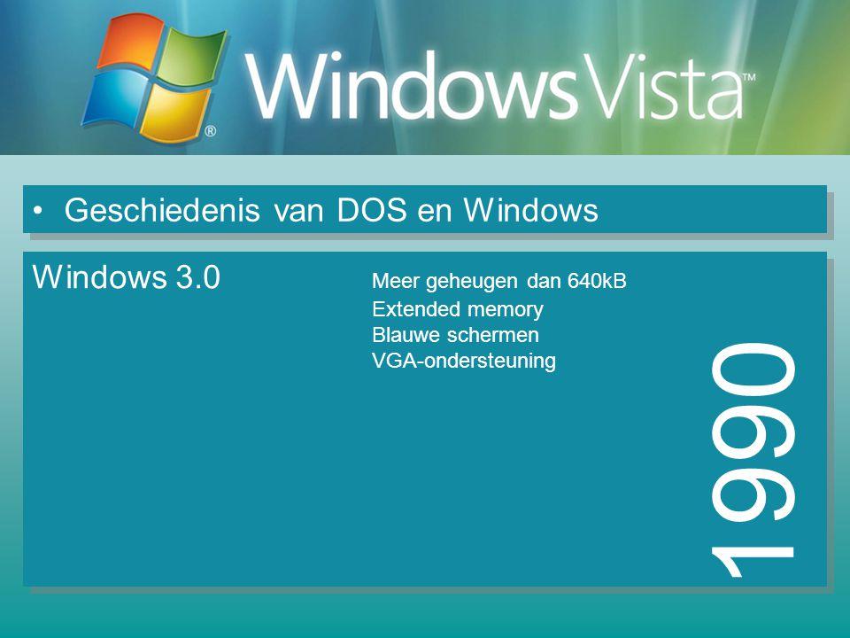 1990 Geschiedenis van DOS en Windows