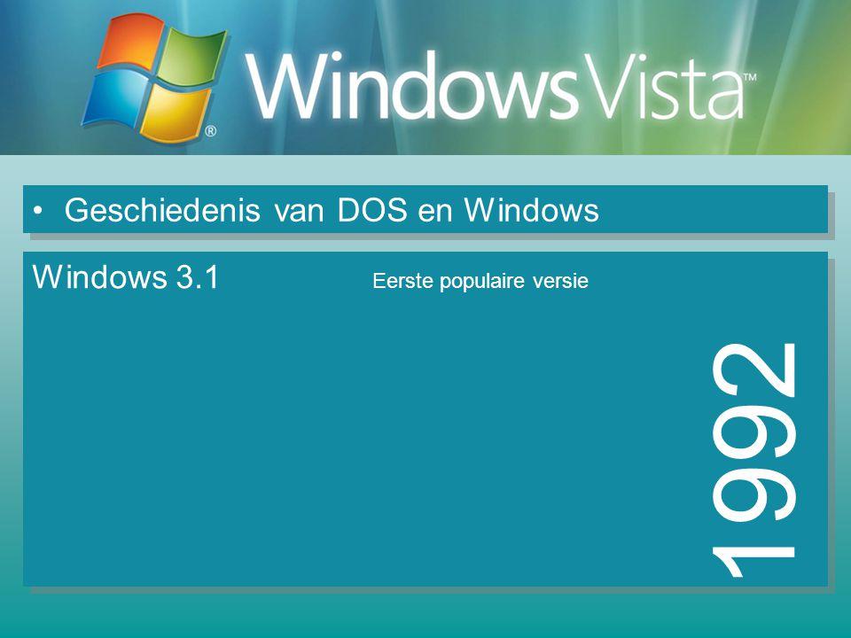 1992 Geschiedenis van DOS en Windows