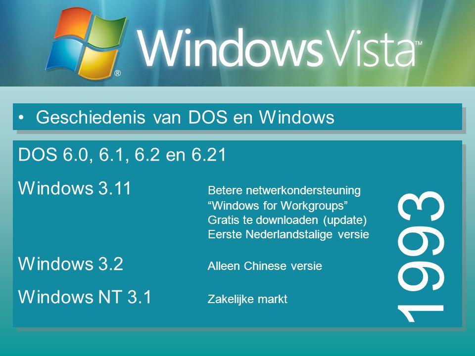 1993 Geschiedenis van DOS en Windows DOS 6.0, 6.1, 6.2 en 6.21