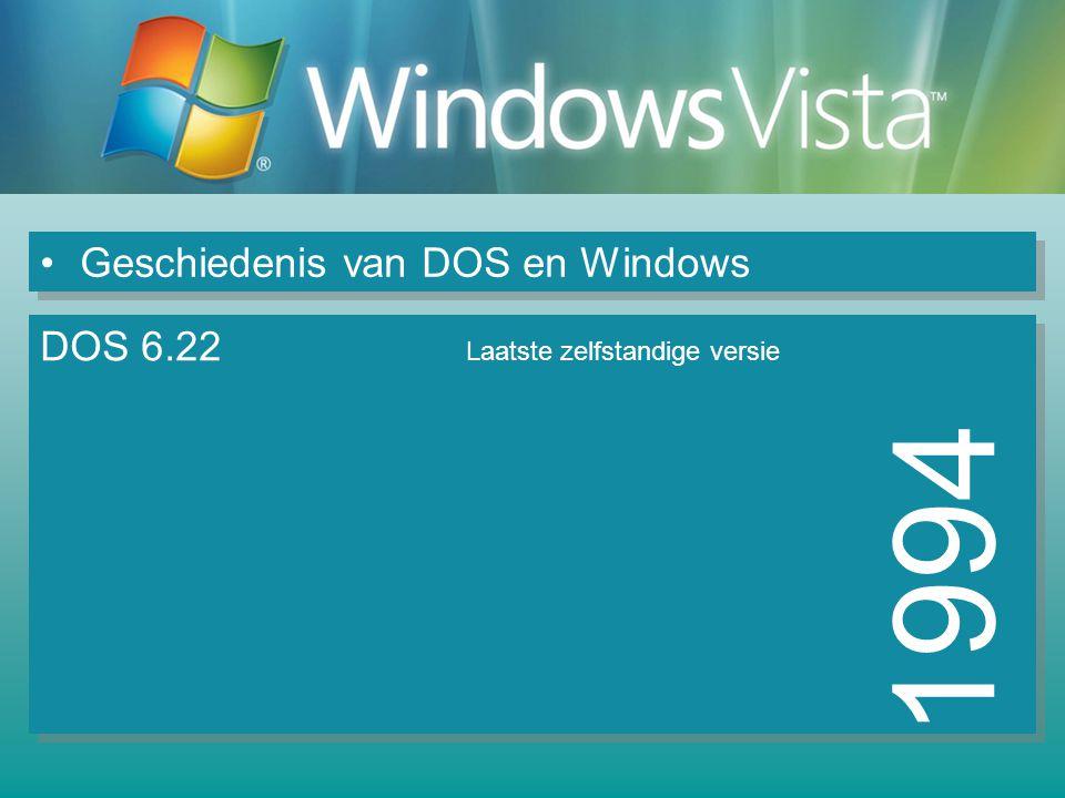 1994 Geschiedenis van DOS en Windows