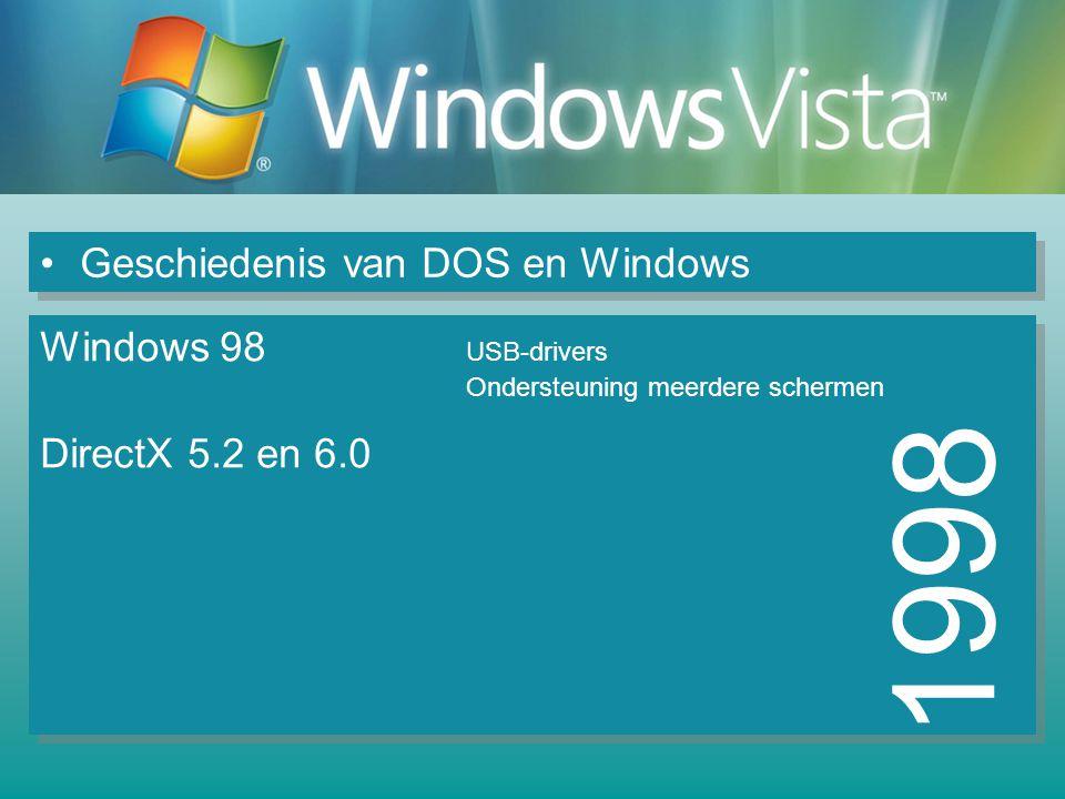 1998 Geschiedenis van DOS en Windows