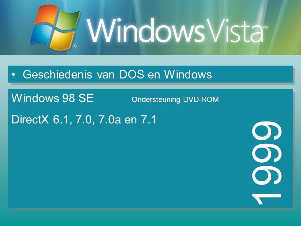 1999 Geschiedenis van DOS en Windows