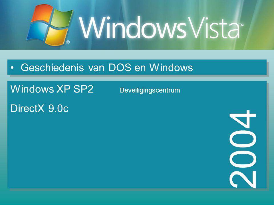2004 Geschiedenis van DOS en Windows