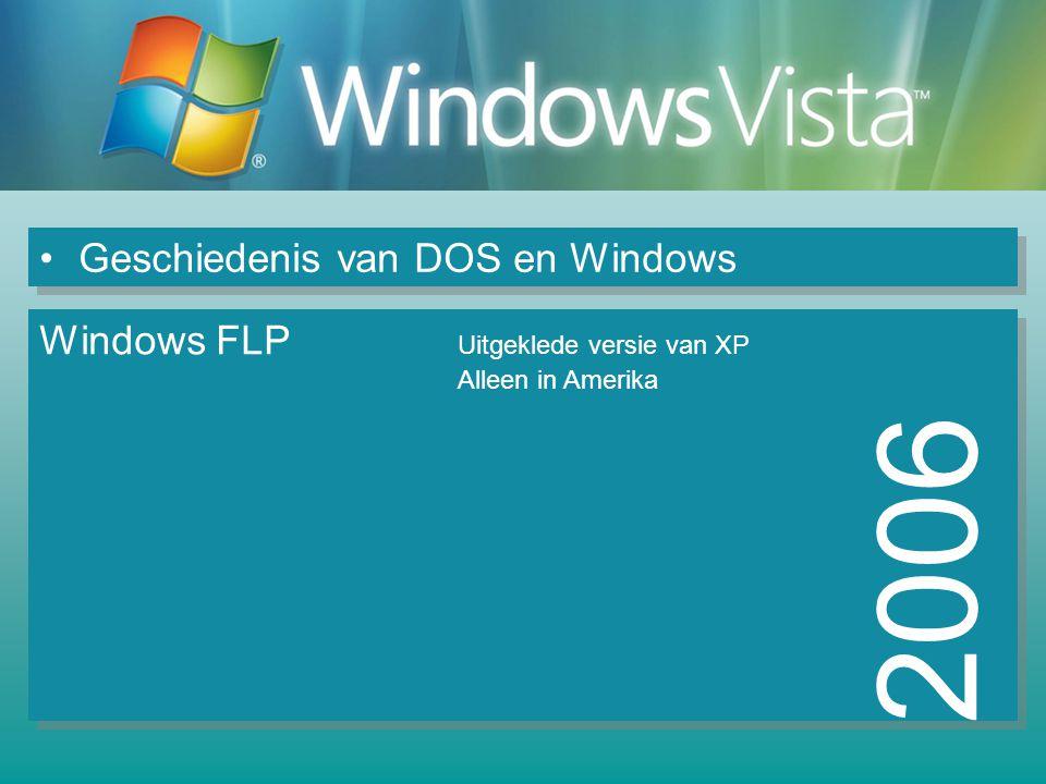 2006 Geschiedenis van DOS en Windows