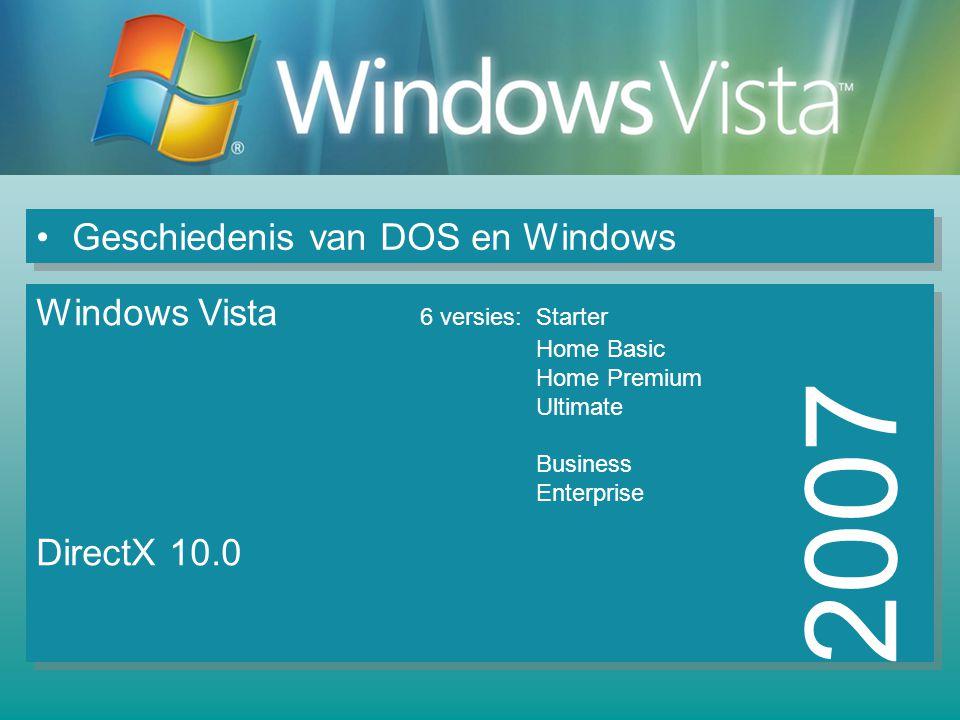 2007 Geschiedenis van DOS en Windows