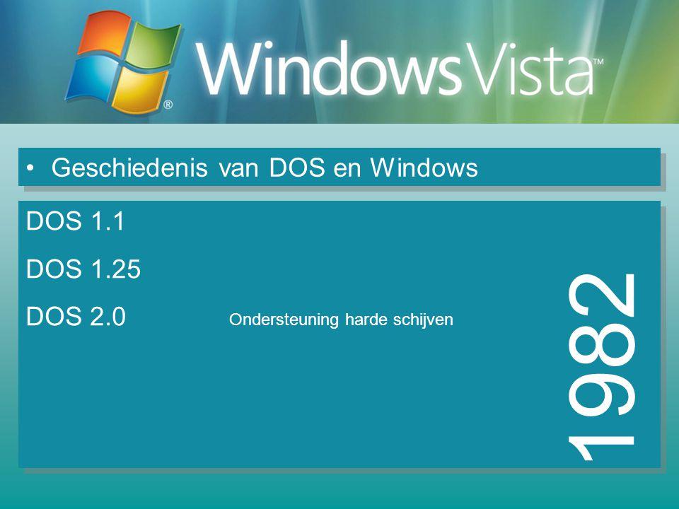 1982 Geschiedenis van DOS en Windows DOS 1.1 DOS 1.25