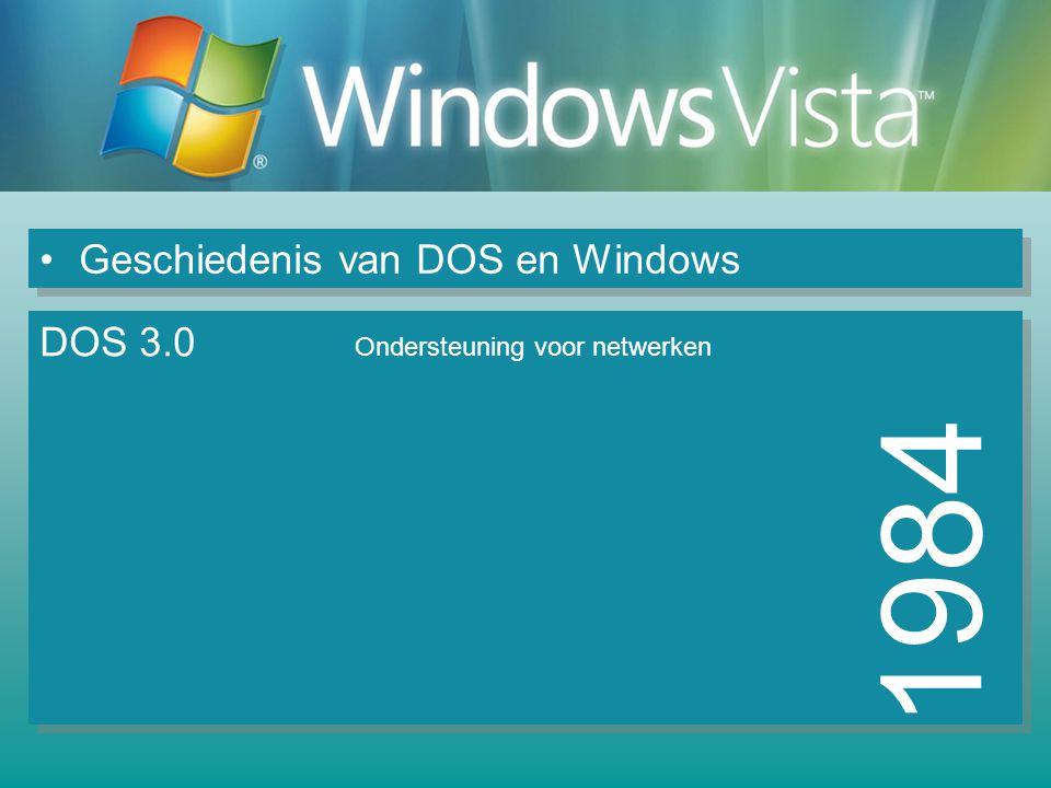 1984 Geschiedenis van DOS en Windows