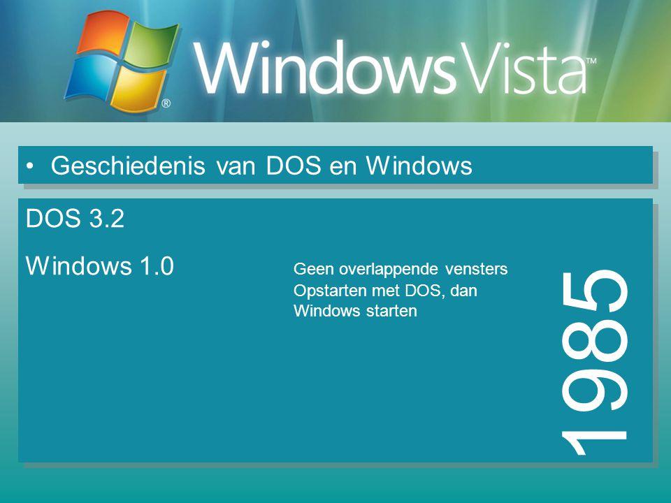 1985 Geschiedenis van DOS en Windows DOS 3.2