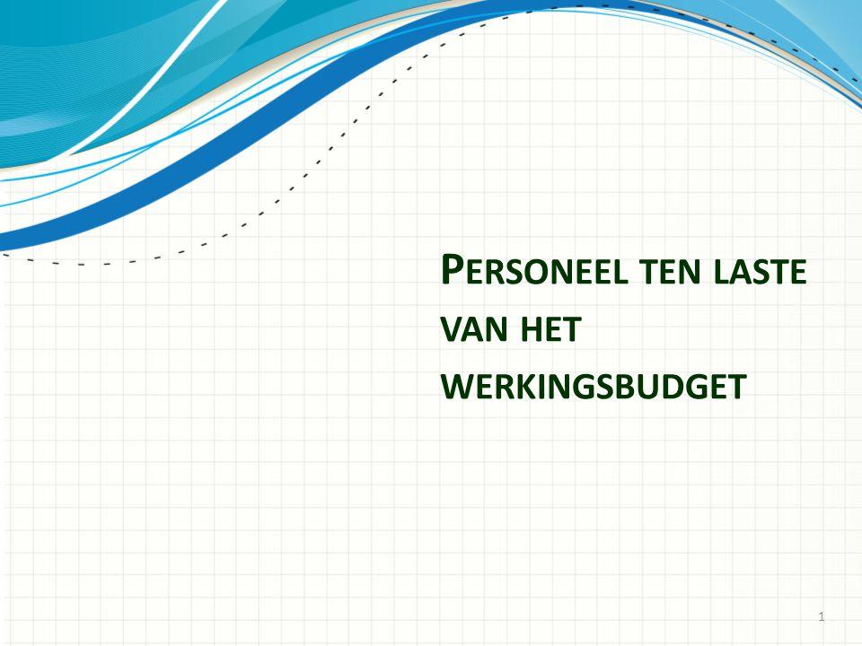 Personeel ten laste van het werkingsbudget