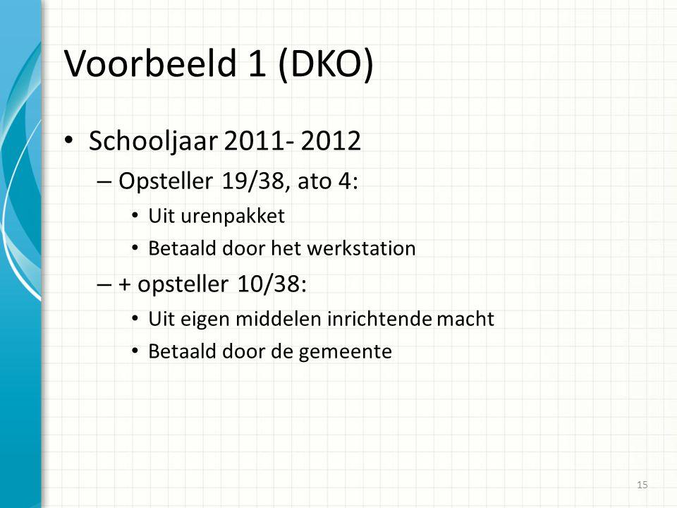 Voorbeeld 1 (DKO) Schooljaar 2011- 2012 Opsteller 19/38, ato 4:
