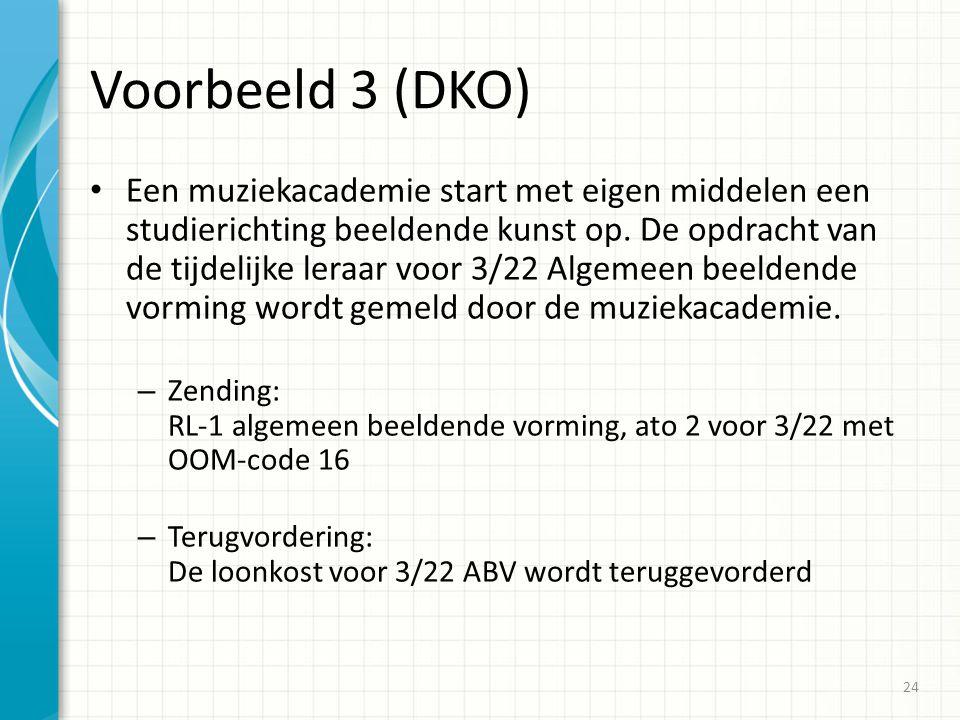 Voorbeeld 3 (DKO)