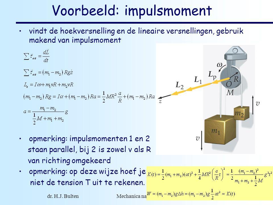 Voorbeeld: impulsmoment