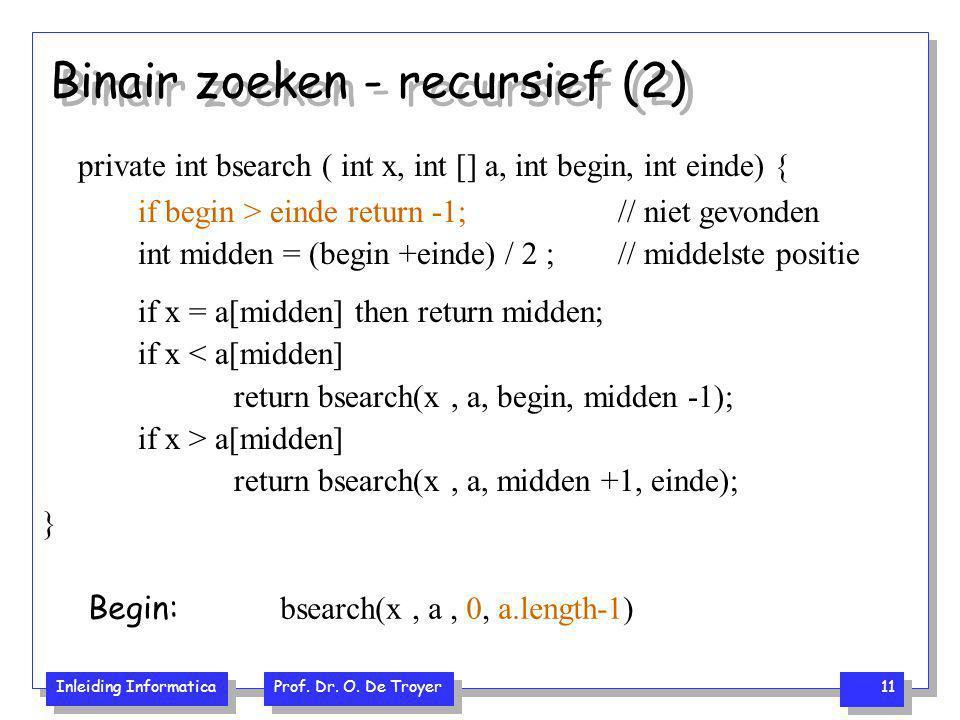 Binair zoeken - recursief (2)